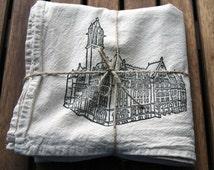 Buffalo Old Post Office Recycled Flour Sack Tea Towel NATURAL