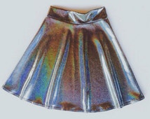 Unique Hologram Skirt Related Items Etsy