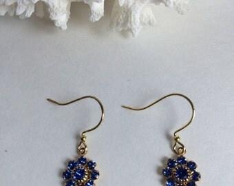 Swarovski crystal snowflake earrings