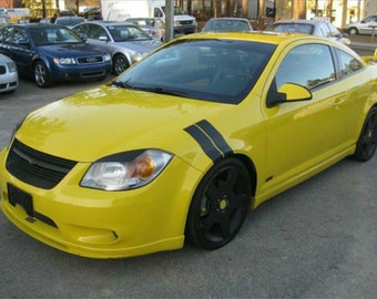 "Chevy Cobalt 4"" Dual Fender Stripe Hash Mark Stripe Decal Graphic Kit - Multiple Colors Available"