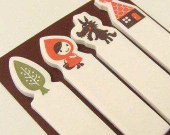 Decole's Otogicco Little Red Riding Hood Adhesive page markers