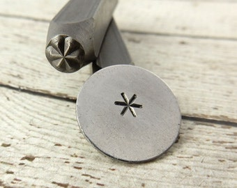 ASTERISK Metal Design Stamp 6 mm Geometric or Punctuation Design Stamp, Great Stamp for DIY Jewelry, Steel Stamp