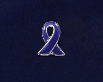 Lapel Violet Ribbon Pin (RETAIL) (RE-P-06-27)