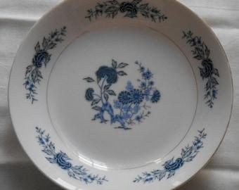 Vintage 1950's Japanese Fine SEYEI China Blue Meissen #5112 Bowl