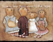 Prim Annie's - Painted by Niomi Draper, Painting With Friends E Pattern