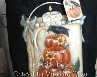 Pumpkin Bag by Manuella Villa for Painting with Friends. E-Pattern