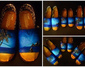Custom made Hawaiian/Vacation/Beach/Florida Toms. Designed and personalized just for you!
