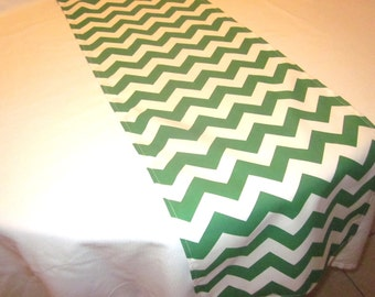 Green Chevron Table Runner, Christmas  Table,Wedding Table, Bridal Shower, Baby Shower, Graduation Party, Birthday Party