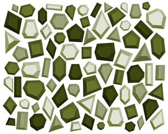Gemstone Clip Art // Digital Diamond Clipart // Geometric Clipart // Digital Jewels // Blog Clip Art // Olive Clip Art