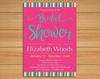 Bridal shower invitation - DIY wedding - printable