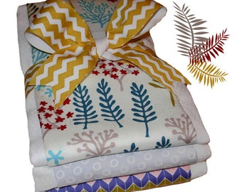 Nature Walk Organic Cotton Burp Cloth Set - Baby Shower Gift