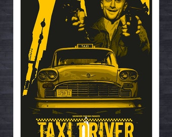 ROBERT DeNIRO - A3 print - Taxi Driver fictional movie poster