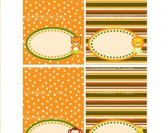 DIY Food Tent Card, DIY Buffet Food Card, DIY Party Food Tents, Safari Food Cards, Jungle Food Tent, Safari Straw Flags - Printables 4 Less