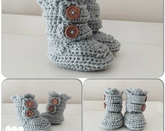 Two Strap Crochet Slippers Child Sizes