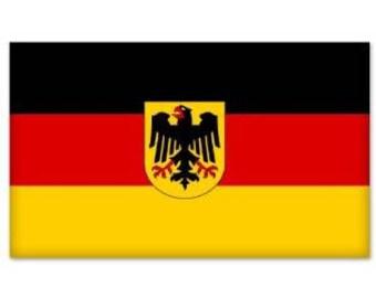 "Germany German Flag bumper sticker decal 6"" x 4"" Window Car Decal Vinyl BS-50047"