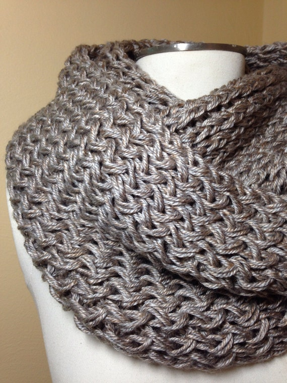 Oatmeal Double Knit Infinity Scarf