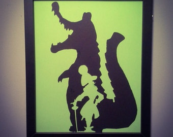 Captain Hook inside the croc wall art