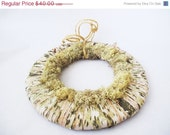 ON SALE Natural wreath with moss and birch bark Handmade Brown Grey White Autumn Winter Holiday Hanging Decoration Everlasting Rustic door d