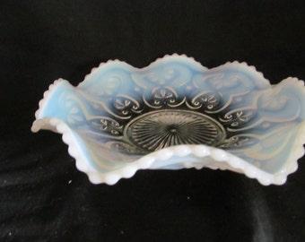 candy bowl Northwood glass cashews white opalescent circa 1905