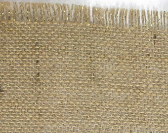 "Natural (Tan) Glitter Burlap Table topper 47"" x 47"" , Great for the Holidays, fringed edges, we have in variety of colors (BFG-T12)"