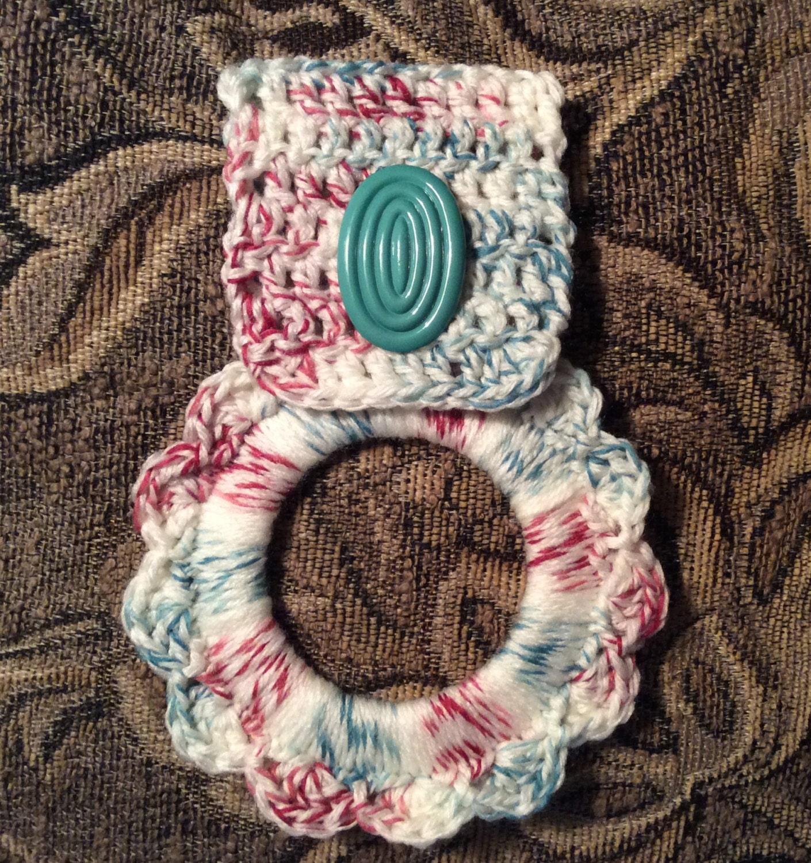 Dishcloth Hanger: Kitchen Towel Hanger Dish Towel Hanger Crochet Towel