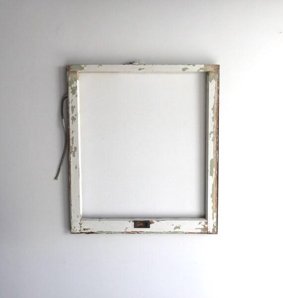 No Glass Vintage 1 Pane Window Frame 28 X 32 White