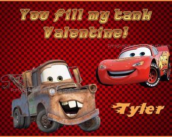 Cars Printable Valentine Card