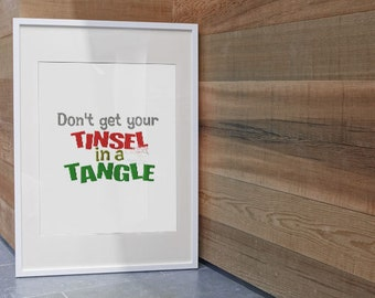 Instant Download ~Don't Get Your Tinsel in a Tangle Machine Embroidery Design~