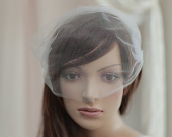 Bandeau Birdcage Veil,Bridal mini veil ---mini tulle veil-----v227