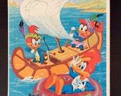 Vintage 1970's Woody Woodpecker Canoe Puzzle