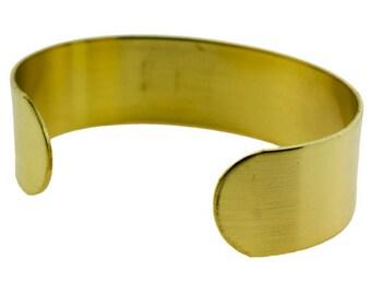"Brass Bracelet Cuff Flat 3/4"" Wide  (MSBR1003)"