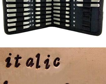 Letter Punch Set 3mm STYLISH ITALIC Lower Case 27pcs with Case  (PN977)