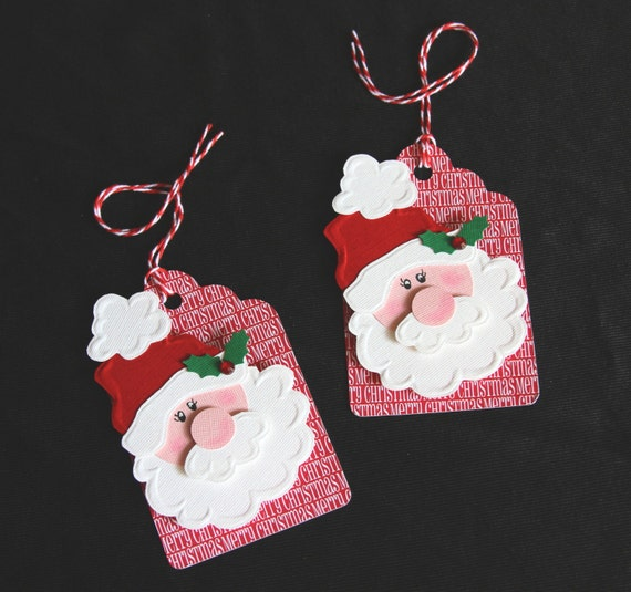 santa claus holiday gift tags scrapbooking tags by paperkayper