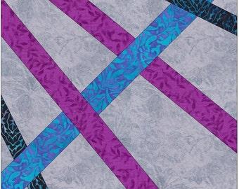Celtic Double Diamonds Knots Chain Paper Templates Quilting Block Pattern PDF