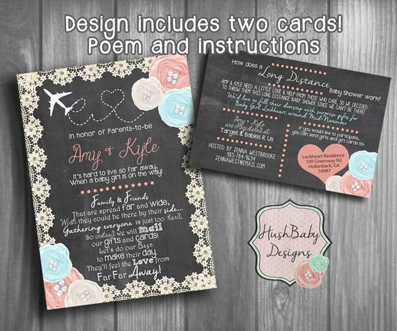 long distance baby shower invitations | retconned, Baby shower invitations