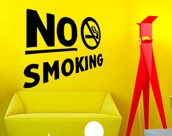 Wall Decals No Smoking Decal Vinyl Sticker Home Decor Bedroom Interior Window Decals Living Room Art Murals Chu1070