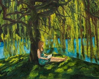 My Secret Place   Limited edition print of original oil painting