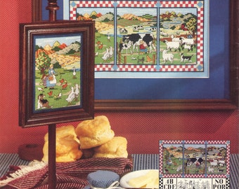 Counted Cross Stitch Collector's Series, Homage to the Farm, Tending to the Animals pattern and instructions