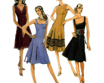 McCall's Sewing Pattern M5232 Misses' Petite Dress by Laura Ashley Size:  FF  16-18-20-22  Uncut