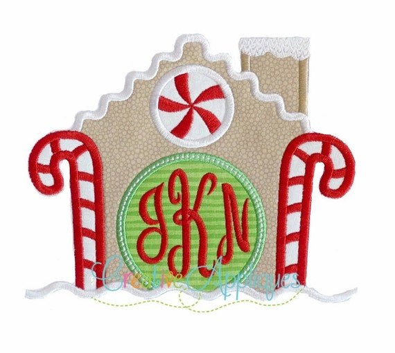 Gingerbread house monogram applique machine by for Monogram homes floor plans