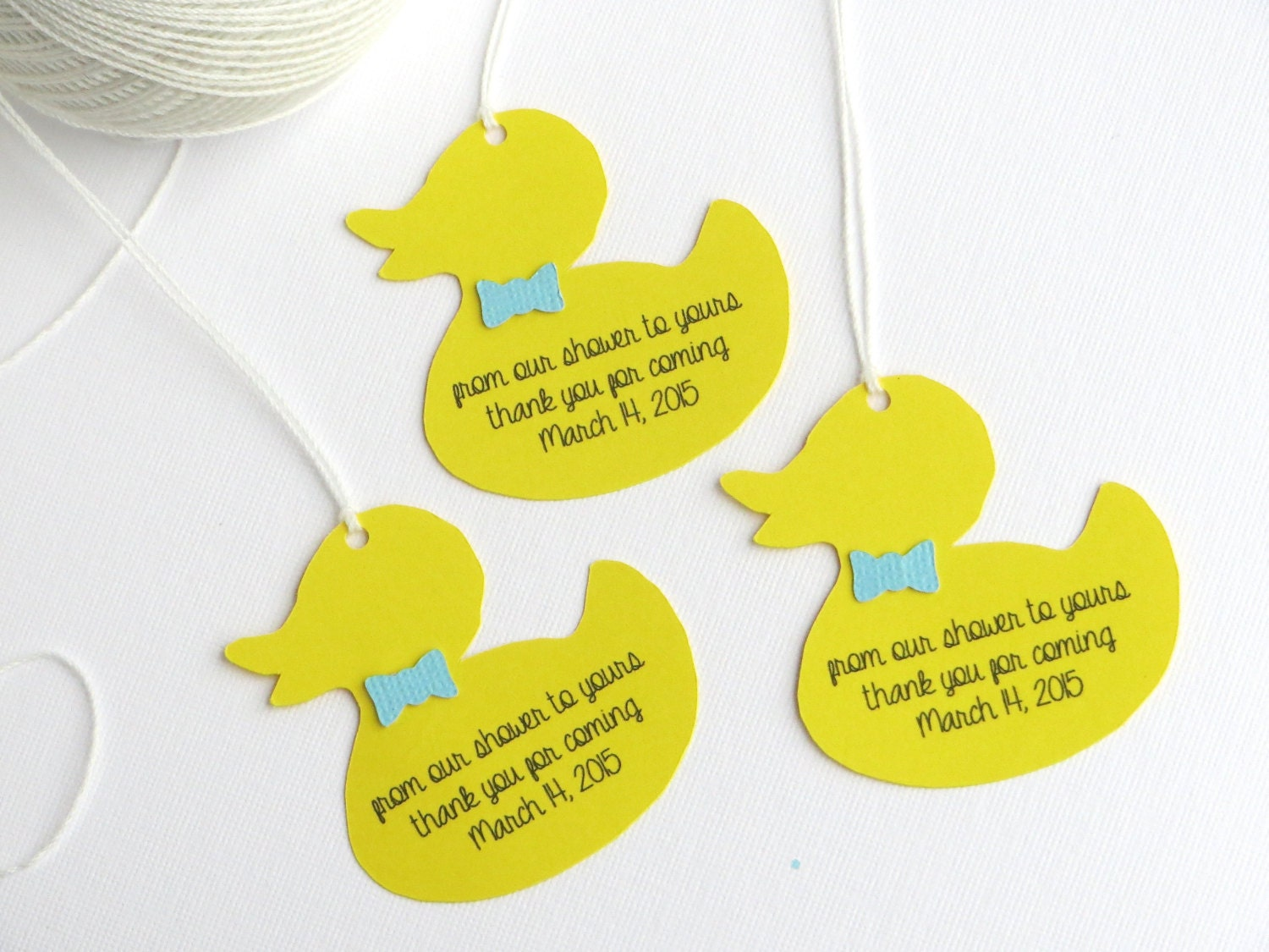 Rubber duck baby shower favor tags boy baby shower thank you for Shower favor tag