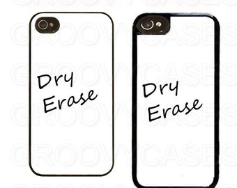 iPhone 4 4s 5 5s 5c SE Case Rubber Dry Erase Board