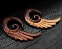 Gold Sono Wood Swan Wing Taper Hanger 10GA - 00GA