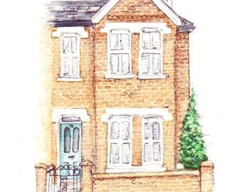 Custom Home Watercolour Portrait Painting