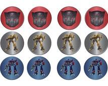 Transformers Autobots Cupcake Toppers Bumblebee Optimus Prime Digital Download