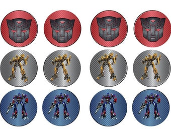 Transformers Autobots Cupcake Toppers Bumblebee Optimus Prime Digital Download