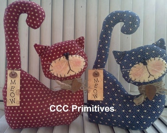 Primitive Country Kitty - Handmade Kitty - Country Kitty - Americana Kitty - Handcrafted Kitty - Prim Cat - Primitive Kitty Cat - Prim Kitty