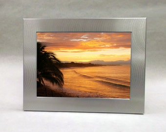 Silver Aluminum Custom Engraved Frame for 5x7 photo