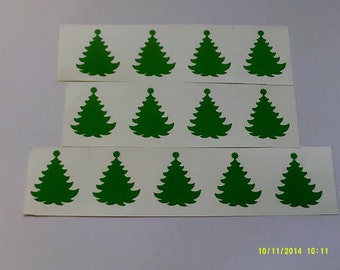 10 - 100  Green Christmas Tree stickers - great for kids - stick on lots of things