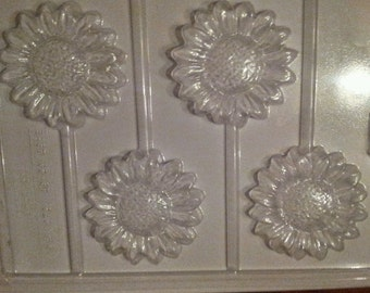 Sunflower chocolate lollipop mold